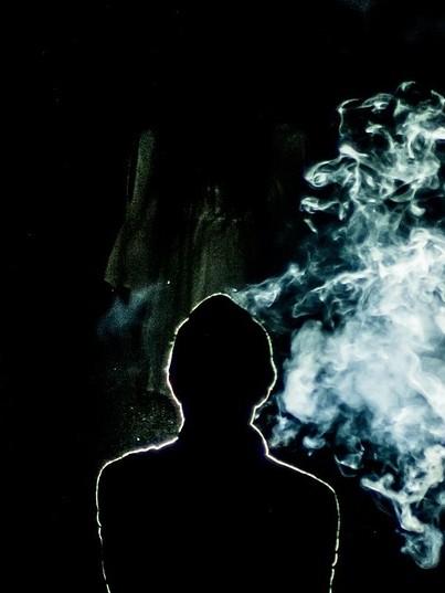 smoking ghost