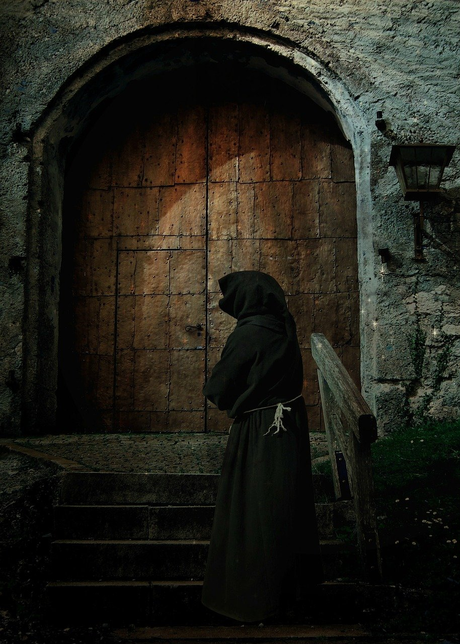 monk at the door